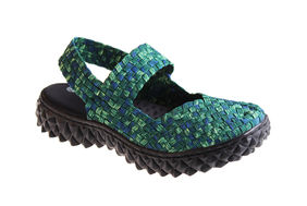 OVER SANDAL GREEN/BLUE SMOKE